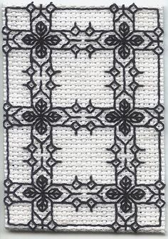 "https://flic.kr/p/6d4Que | Blackwork ATC - ""A Fancy Border"" 
