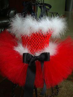SANTA BABY Christmas tutu dress with headband by alliballiboutique, $38.95