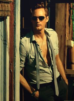 A. Skarsgard: If I ever ran into him, I would be at a loss for words & for me that's a big deal lol