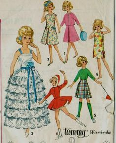 Complete Wardrobe for Tammy Doll! Vintage Pattern for Tammy Doll Clothes Simplicity 5214