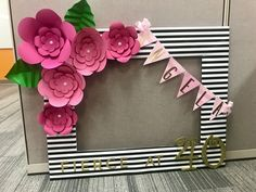 Birthday Photo Frame, Birthday Frames, Girl 2nd Birthday, Unicorn Birthday Parties, Photo Booth Stand, 18 Birthday Party Decorations, Cute Garden Ideas, Kate Spade Party, Photo Frame Prop