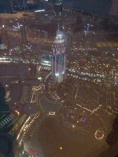 Uitzicht Burj Khalifa by night