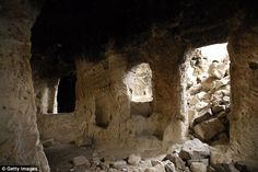 A view of the underground city newly discovered in Turkey's Central Anatolian province of Nevsehir,