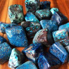 Shattuckite tumbled stone