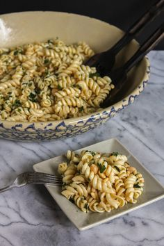 Chickpea & Pasta Salad with Lemon-Chutney Dressing #Pastapalooza