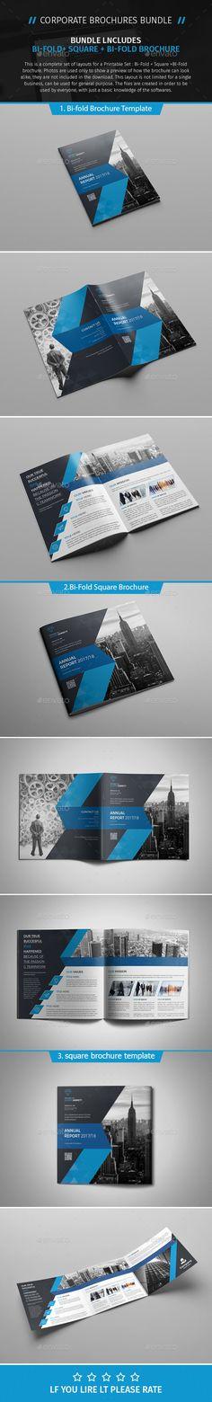 #Brochure Bundle 07 - Corporate Brochures Download here: https://graphicriver.net/item/brochure-bundle-07/19201516?ref=alena994