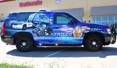 For all your Police Car Graphics Wraps needs, call Zilla Wraps We are conveniently located in the Dallas / Fort Worth area. Old Police Cars, Police Truck, Rescue Vehicles, Police Vehicles, Wrap Advertising, Equipment Trailers, State Police, Search And Rescue, Emergency Vehicles