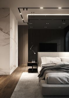 Where Luxury Sleeps: Modern Bedroom Interios To Inspire You Modern Luxury Bedroom, Luxury Bedroom Design, Bedroom Bed Design, Contemporary Bedroom, Luxurious Bedrooms, Modern Master Bedroom, Bedroom Decor, Luxury Homes Interior, Home Interior Design