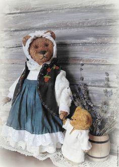 Teddy bear  / Мишки Тедди ручной работы. Ярмарка Мастеров - ручная работа. Купить Марта. Handmade. Мишка, ручная вышивка, шплинтовое соединение