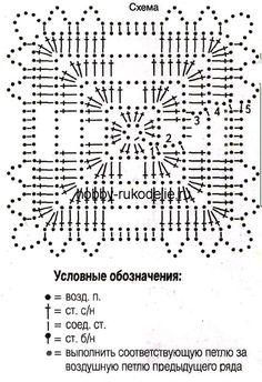 Схемы мотивов для вязания крючком:
