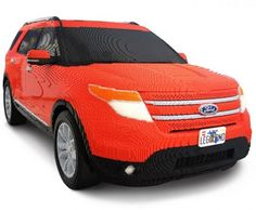Life-Size Ford Explorer Replica by workers at Legoland Florida~Impressive Artworks from Lego Bricks