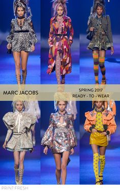 Spring 2017 Ready-to-wear Runway Print & Pattern Trends- Marc Jacobs Images: vogue.com bold animal print, cheetah print, color blocking, cool camo, 70s inspired colors