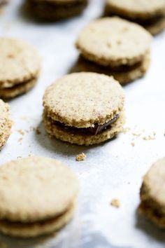 Gluten-Free & Vegan Chocolate Hazelnut Linzer Cookies