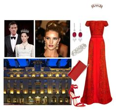 """Royal crossover: pre-wedding reception of HM King James and Evangeline Rockefeller"" by emprbr ❤ liked on Polyvore featuring J. Mendel, Prada, Bayco and French Connection"