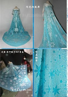 Frozen Snow Queen Elsa Fancy Dress Cosplay Costume by fanxiaofang