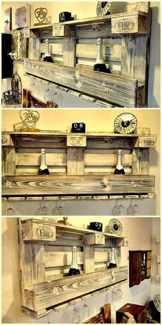 pallet wine rack projects idea