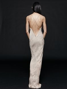 Long Plunge Dress by Titania Inglis Blush Dresses, Formal Dresses, Wedding Dresses, Plunge Dress, Material Girls, Black Fabric, Bridal Style, Beautiful Dresses, Fancy