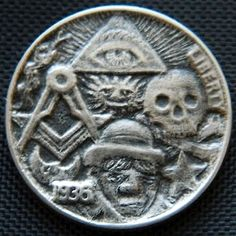 Hobo Nickel Degree Hobo by Lou Acker Hobo Nickel, Paper Cutting, Buffalo, Coins, Carving, Ebay, Art, Ancient Aliens, Art Background