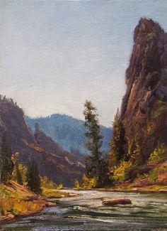 SOLD I Gunnison Study I 5x7 I Dix Baines I Fine Artist Original Oil Paintings I Mountains I Black Canyon of The Gunnison I www.dixbaines.com