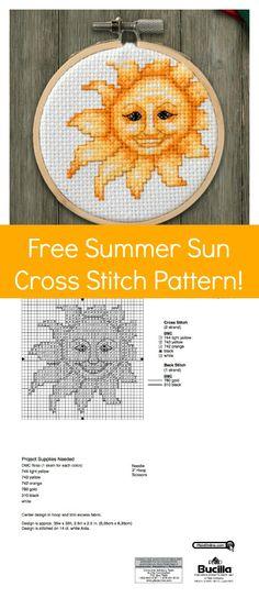 Free Cross Stitch Pattern: Summer Sunshine!