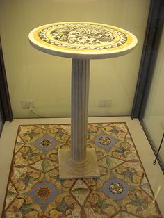 Small marble table from Pompeii AD) – Naples Archaeological Museum // If only this were for sale… Sigh.