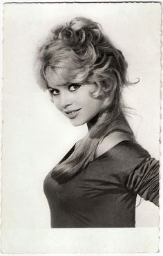 Brigitte Bardot. French postcard by Editions P.I., offered by Les Carbones Korès Carboplane, no. 930. Photo: Sam Lévin.