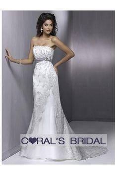 Chic empire waist lace wedding dress WD09183 (Tamara)