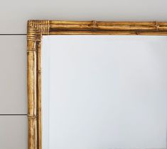 A bamboo frame gives this mirror its classic touch. It's covered in a gold gilt for a contemporary update that lets it fit in well in any space of the home. Bamboo Mirror, Bamboo Bathroom, Mirror Art, Floor Mirror, Wall Mirrors, Mirror Ideas, Foyer Furniture, Diy Home, Home Decor