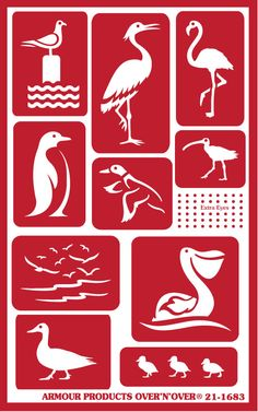"NEW! Re-usable glass etching stencils ""Water Birds"" Avail @ www.etchworld.com"