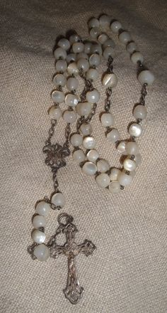 Mother of Pearl rosary from France... like the one I had in my childhood... D