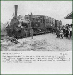 De personen trein in Broek op Langedijk