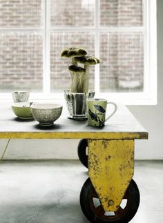 industrial table, home design interior Industrial House, Industrial Interiors, Industrial Chic, Industrial Furniture, Home Furniture, Industrial Industry, Design Industrial, French Industrial, Luxury Furniture