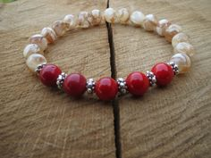 Check out this item in my Etsy shop https://www.etsy.com/listing/218991754/shell-bracelet-red-coral-bracelet-gift