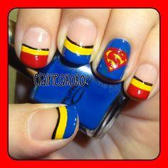 superman by  elaineqxoxo #nail #nails #nailart