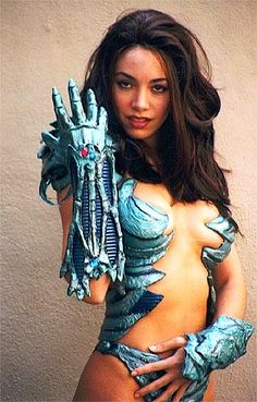 Witchblade. Brian made this out of drawer liner paper.