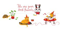 Pets are best friends 2014 @Shopitize illustration by @Ivana Catovic