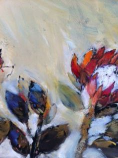 Red protea by Liesel Brune Oil On Canvas, Create, Red, Painting, Beautiful, Painted Canvas, Painting Art, Paintings, Oil Paintings