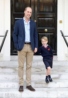 Prince George and his father, Prince William