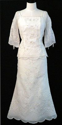 a filipiniana. also reminds me of mie's dress.