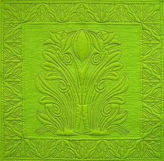 Art Nouveau seems to work well as quilting designs anitashackelford.com/images/wholecloth-stained-glass.jpg