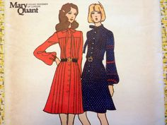 Butterick 6811 Mary Quant 70s Dress Pattern by TopSpecialVintage, $22.00