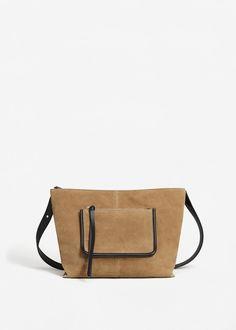 Leather pocket bag | MANGO
