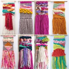 Weaving Textiles, Weaving Art, Tapestry Weaving, Loom Weaving, Hand Weaving, String Crafts, Yarn Crafts, Cute Crafts, Craft Day