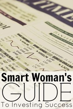 The Smart Woman's Guide To Investing Success – Making Sense Of Cents. Women face different obstacles than men do when it comes to investing in the stock market. Right off the bat, they tend to have less in savings because women often take time off to raise children. With years of not earning a salary, there is no money being saved and compounded upon.