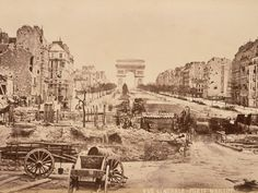 The Champs-Elysees photographed from the Porte Maillot in 1871after the Franco-Prussian war