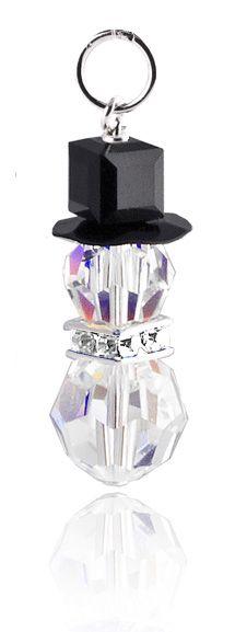 Holiday Jewelry Kits - Crystal Snowman Pendant Kit