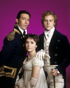 Ciarán Hinds (Captain Frederick Wentworth), Amanda Root (Anne Elliot) and Samuel West (Mr. Elliot) - Persuasion directed by Roger Michell (1995) #janeausten