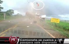 Camioneta Fuera De Control Da Varias Vueltas Y Hombre Sale Disparado Por Los Aires En Brasil #Video