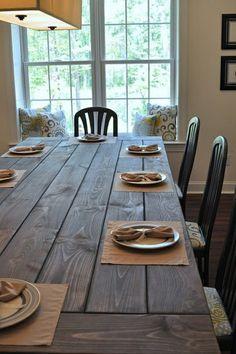 Rustikale Esstische Hell Holz Tischset