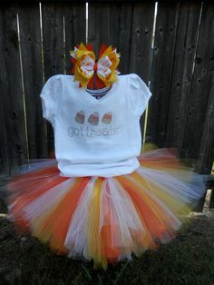 Candy Corn Halloween Tutu Outfit / Costume. $30.00, via Etsy.